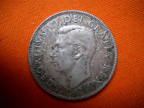 1950 Canada 50 Cent Half Dollar. XF Grade. No design. Ships only to U.S.