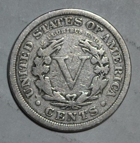 1907 P Liberty Nickel Lamination Error