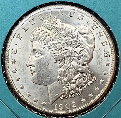 HIGH GRADE 1902-O CHOICE BU/MS++ LUSTROUS 90% SILVER MORGAN DOLLAR - NICE LUSTRO