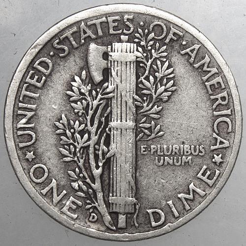 1945 D Mercury Dime #4