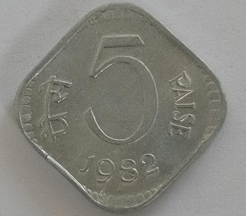 (4)...1982....india  Circulated  coin.