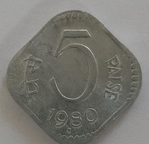 (5)...1980..india  Circulated  *coin.