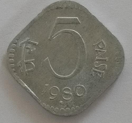 (6)...1980..india  Circulated  *coin.