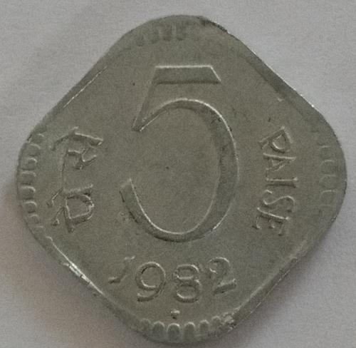 (9)...1982..india  Circulated  *coin.