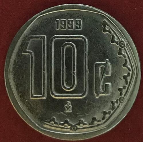 Mexico 1999 = 10 Centavos