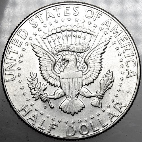 1964D Kennedy Half Dollar #20  FS-105 Minor DDR Double Die Reverse ERROR