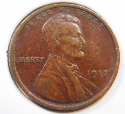 1917 P Lincoln Cent (17PLR1)