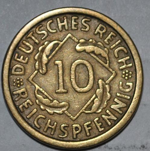Germany 10 Reichspfennig 1924 a
