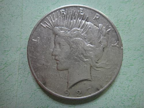 1927-D Peace Dollar Extra Fine-40 Decent Typical Surfaces For Grade.