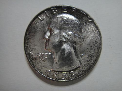 1953 Washington Quarter MS-64+ (Near Gem) Nice Dark Russet Tone Around Rims!