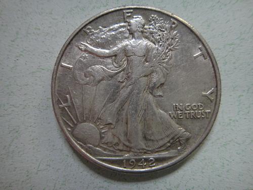 1942-D Walking Liberty Half Dollar Extra Fine-45