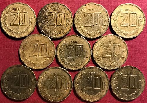 Mexico 1998-2008 = 20 Centavos [#1]