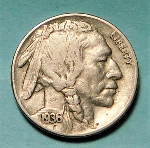 1936 S Buffalo/Indian Head Nickel