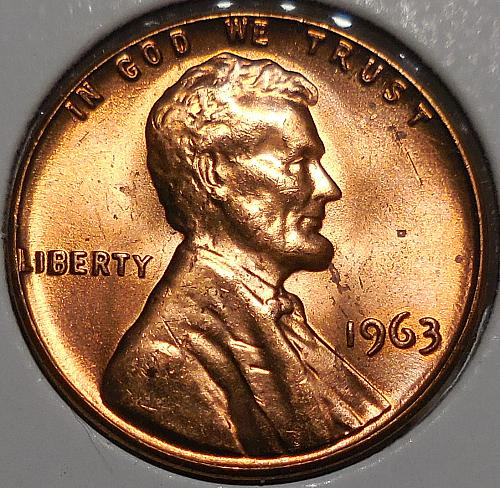1963-P Lincoln Memorial Cent