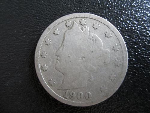 1900-P Liberty Nickel in plastic protector pouch for preservation
