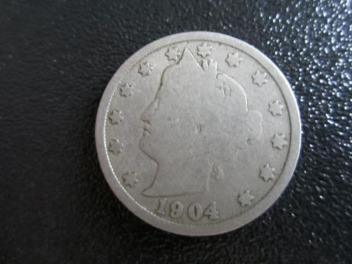 1904-P Liberty Nickel in plastic protector pouch for preservation