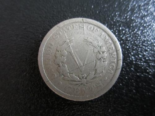1909P Liberty Nickel in plastic protector pouch for preservation