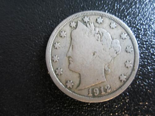 1912-P Liberty Nickel in plastic protector pouch for preservation