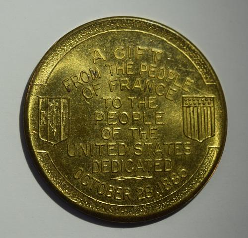 Statue of Liberty Souvenir Coin - Gift from France - 1930s-1940s, NY Token/Medal