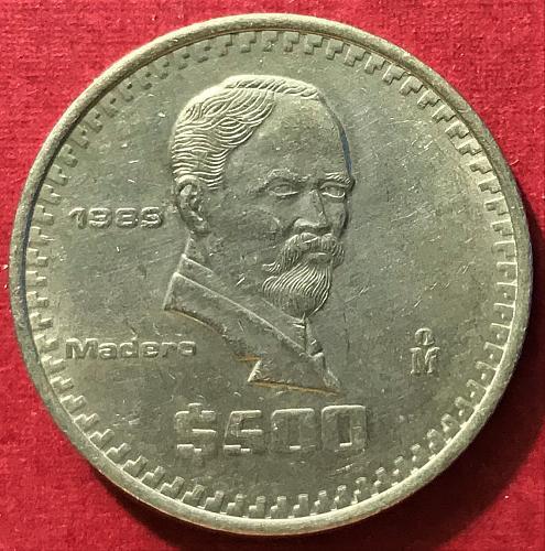 Mexico 1989 = 500 Pesos