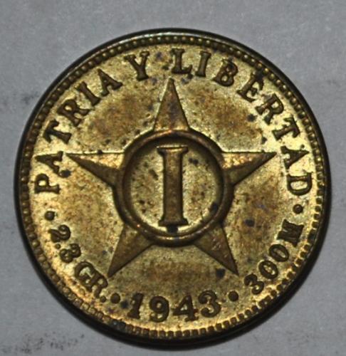 Cuba 1 Centavo 1943