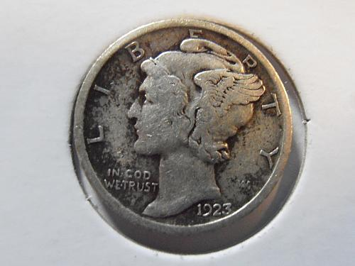 1923 P Mercury Silver Dime (23PLR1)