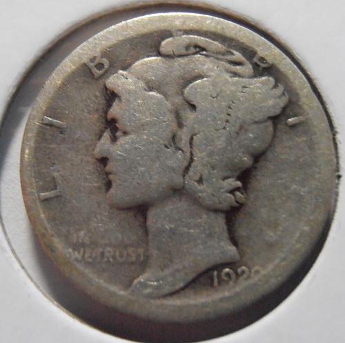1920 D Mercury Silver Dime (20DLR1)