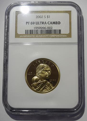 2002 S Sacagawea Golden Dollar NGC PF-69 ULTRA CAMEO