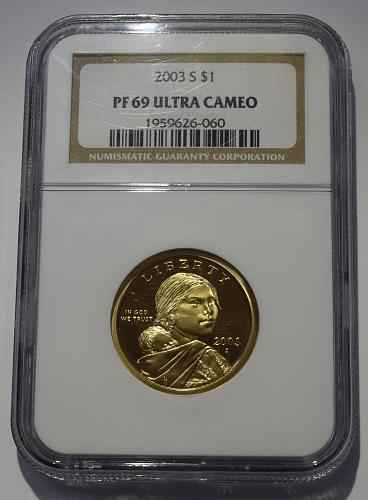 2003 S Sacagawea Golden Dollar NGC PF-69 ULTRA CAMEO