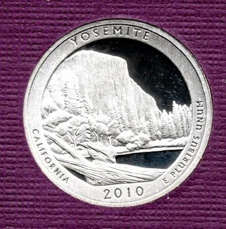 2010 S Yosemite America The Beautiful Quarters: Silver Proof -3