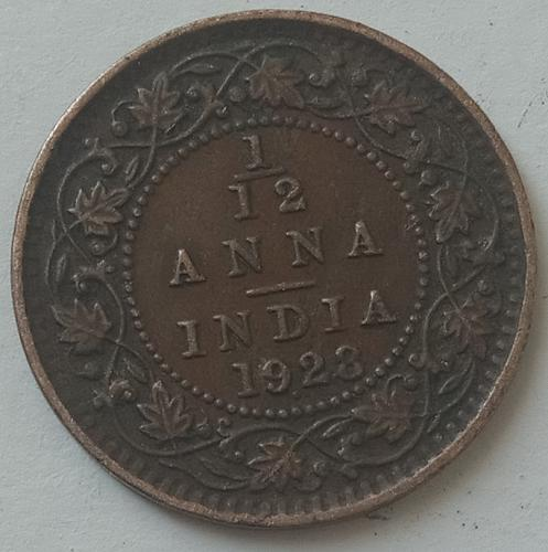 1928...... British  India coin... circulated..