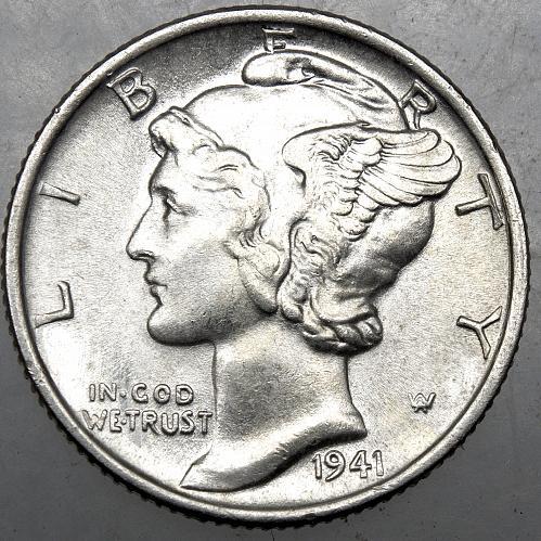 1941 P Mercury Dime#10