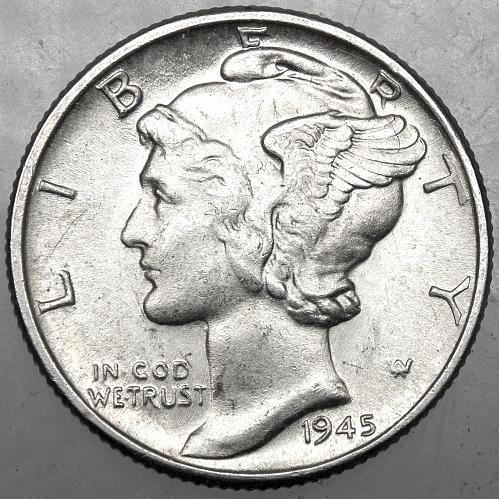 1945 P Mercury Dime #6