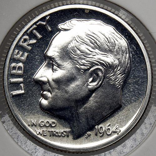 1964 P Roosevelt Dime #15 CAM66 PROOF