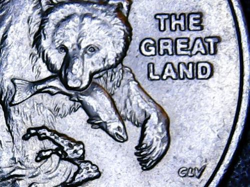 Claw Error. 2008 P Alaska State Quarter Error. See Pictures.