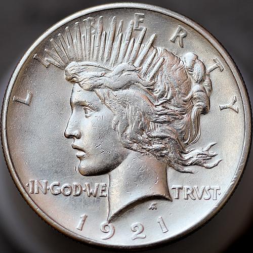 1921 Peace Silver Dollar - Gem BU / MS / UNC
