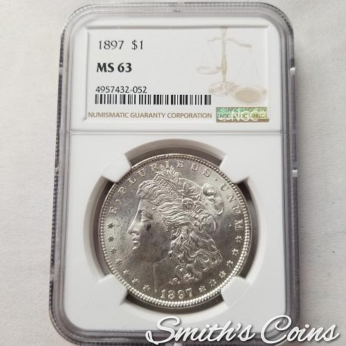 1897 ~ Morgan Dollar ~ NGC MS 63