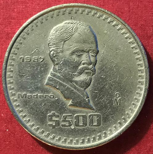 Mexico 1987 = 500 Pesos