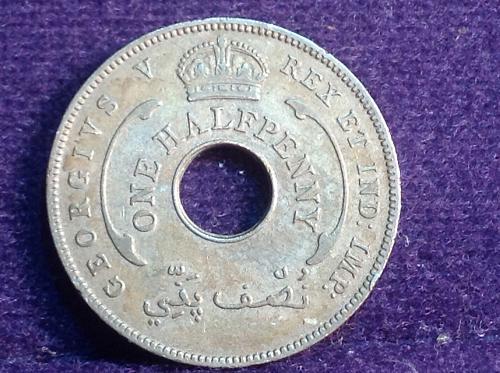 1935 British West Africa 1/2 Cent