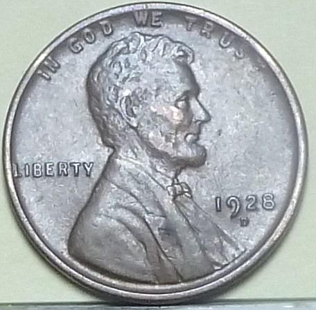 Here is a 1928-D AU Lincoln Wheat Cent  (L114)