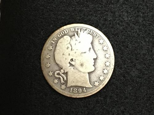 1894 S Barber Half Dollar Better Date Combined Shipping
