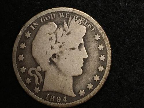 1894 O Barber Half Dollar Better Date FREE SHIPPING!