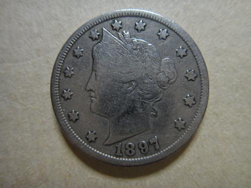 "1897 Liberty ""V"" Nickel Very Good-10"