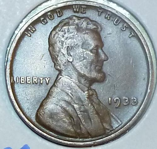 1933-P  EXTRA FINE  Lincoln Wheat Cent ( Q115)