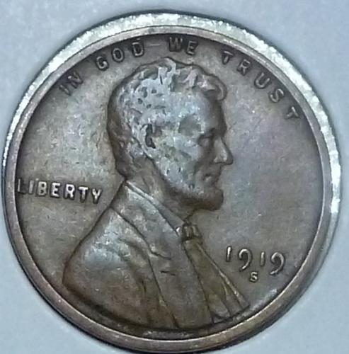1919-S Extra Fine Lincoln Wheat Cent XF ( K115 }