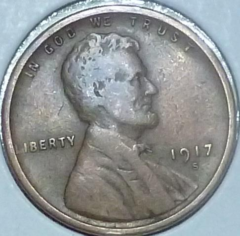 1917-S Very Fine  Lincoln Wheat Cent (G115)
