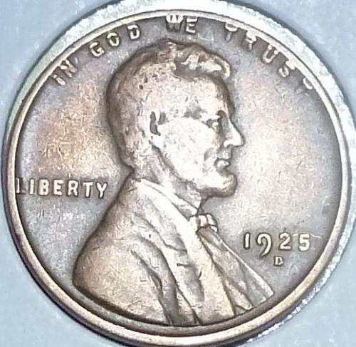 1925-D Very Fine  Lincoln Wheat Cent (G116)