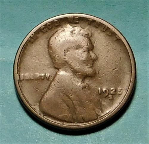 1925 S Lincoln Wheat Cent