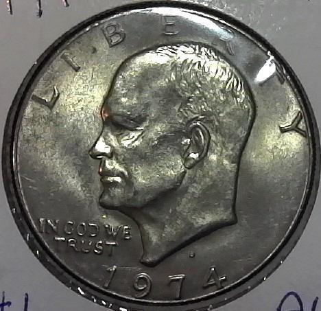 1974 D Eisenhower Dollar Coin