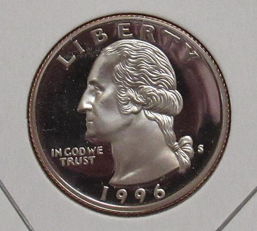 1996 S Proof Washington Quarter